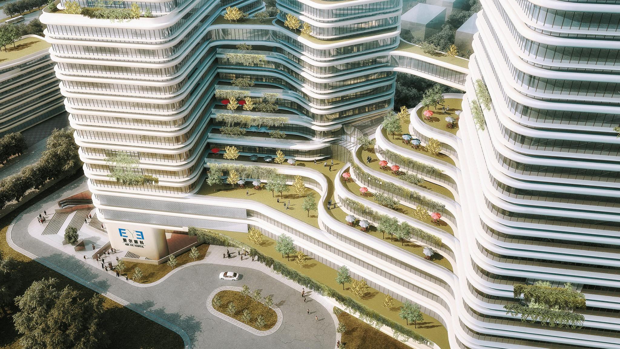 项目页图片_长沙爱尔眼科总部医院竞赛