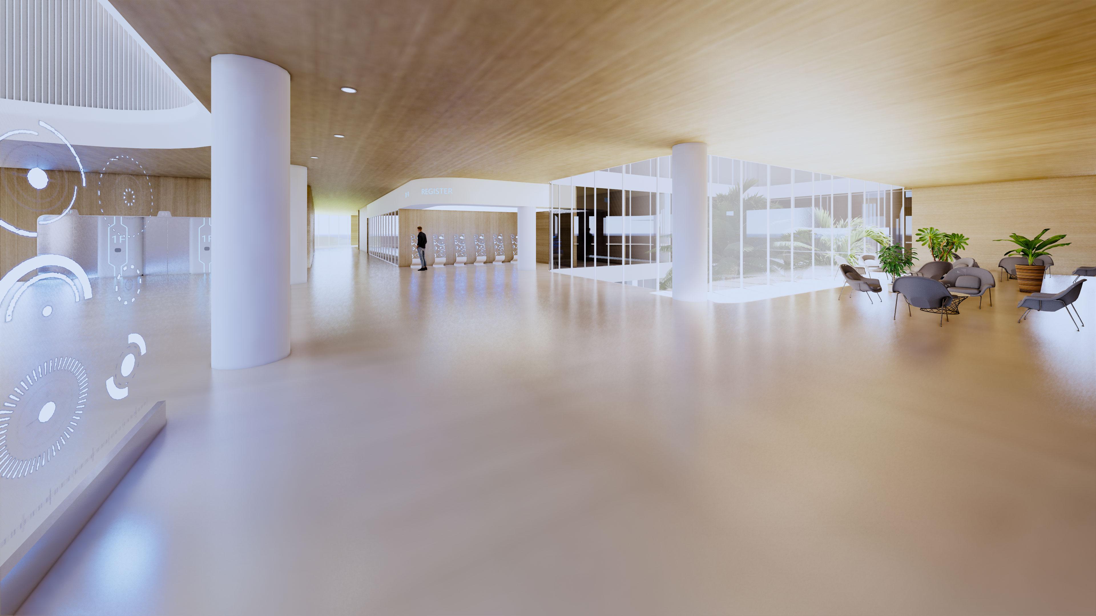 Sunlight atrium perspective